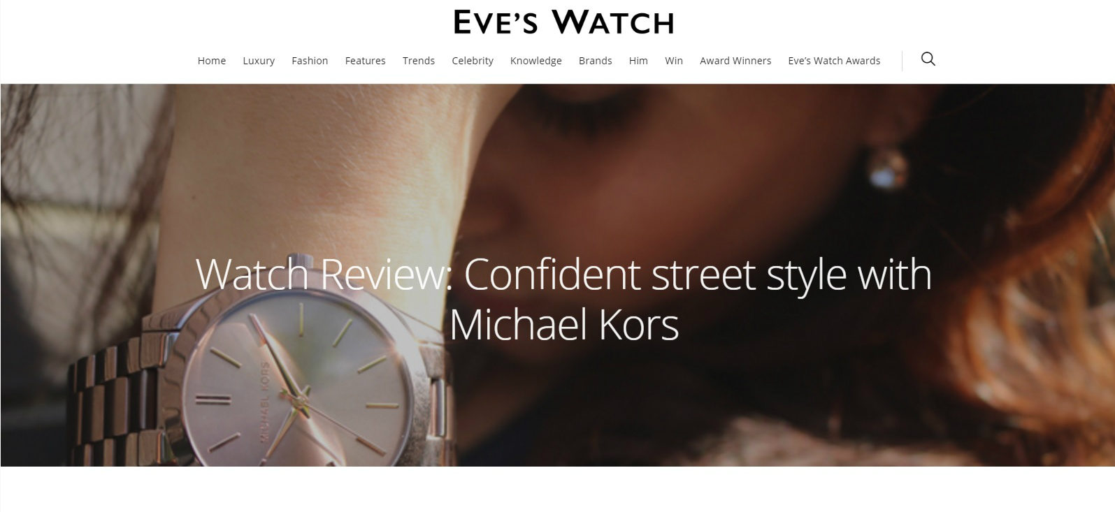 The William Agency Eve's Watch Content Marketing Example