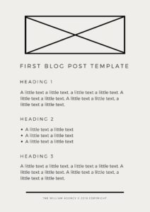 The William Agency How To Write A Good First Blog Post