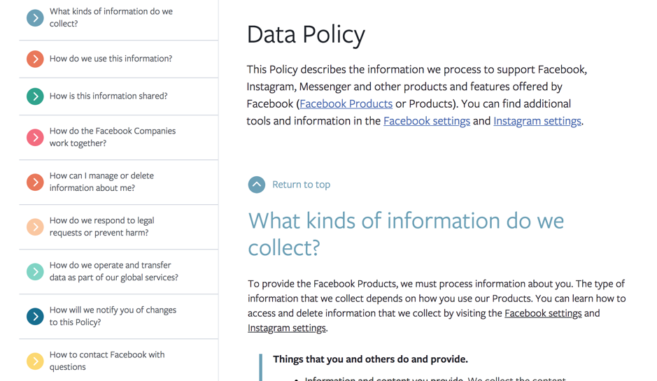 The WIlliam Agency Facebook Policy UX Copywriting