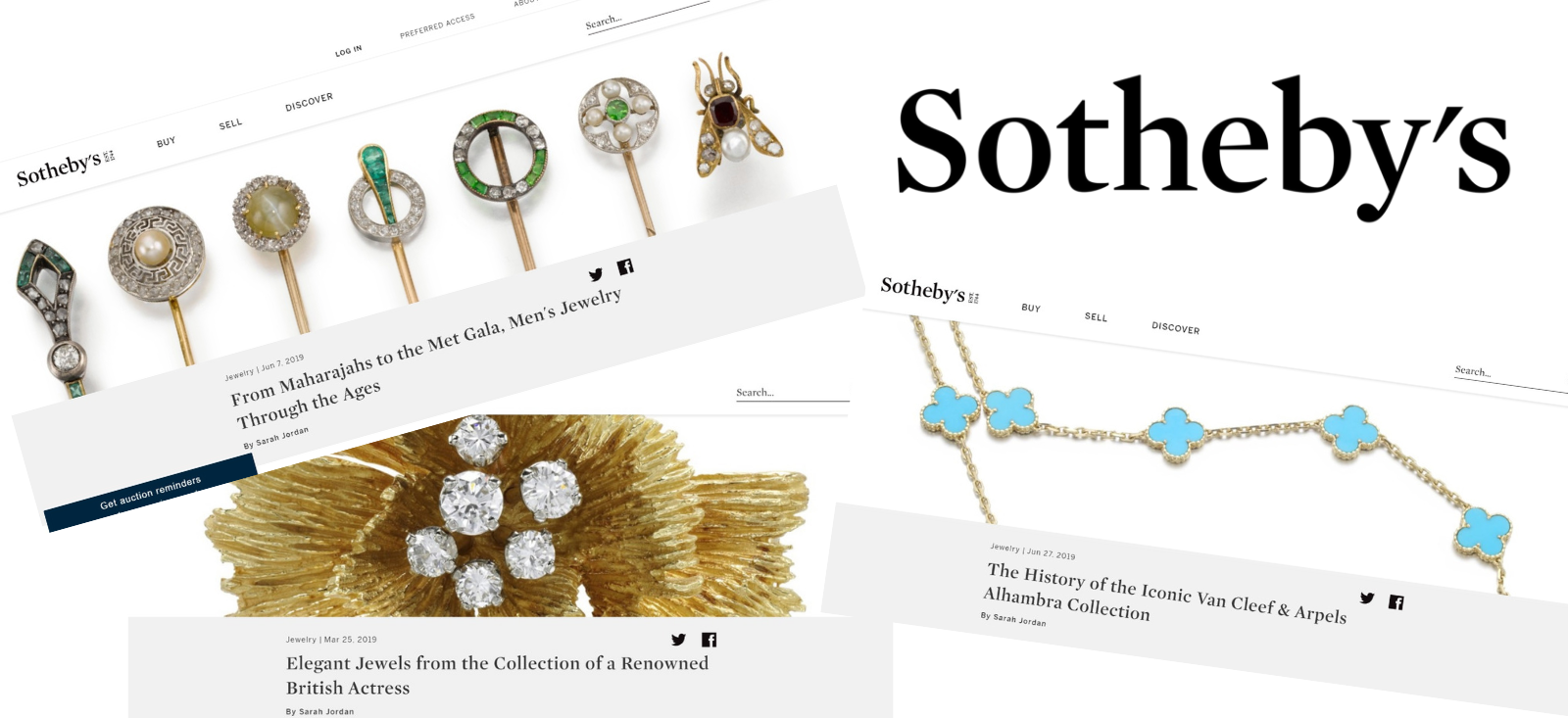 Sotheby's Auction House - The William Agency Portfolio - Copywriting and Feature Writing